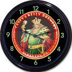 """Casey Kelly Beer Tray Wall Clock Scranton PA Ale Pilsner Brew Man Cave New 10"""""""