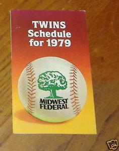 minnesota twins pocket schedule 1979 MBL