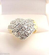 DIAMOND ENCRUSTED FINE QUALITY VINTAGE  14K GOLD RING