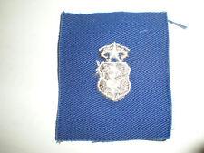 1960'S USAF CHIEF NURSE BADGE -COLOR ON BLUE TWILL