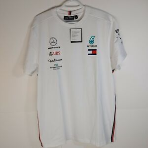 Amg Petronas Mercedes F1 White T shirt Mens Size XL Official Licensed NWT