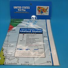 """New listing United states wall map, Poster Size 40""""x28"""""""