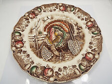 Vintage Johnson Bros England Turkey Game Plate His Majesty, 10 1/2""