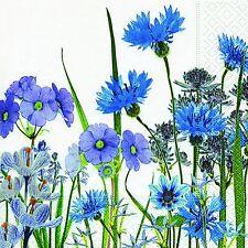 20 Serviette Blaue Blumenwiese Blumen Kornblumen Garten