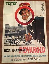 manifesto,4F,C, DESTINAZIONE PIOVAROLO,TOTO'  MERLINI STOPPA,TINA PICA 1955 1 ED