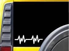 "Heartbeat Line L028 8"" vinyl sticker ekg lifeline decal"
