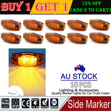 10x 12V 24V Amber 2 Diode Side LED Marker Clearance Truck Trailer Lights