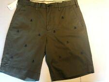 "Polo Ralph Lauren Mens 29  34 Shorts Green Skull Crossbones Classic 9"""