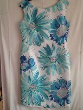 August Silk Floral Dress Size16 .