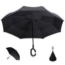 Parapluie Inversé Révolutionnaire, anse C,  modèle uni  noir, TOP DESIGN...