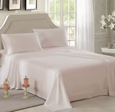 HONEYMOON HOME FASHIONS Brushed Microfiber Queen Embroidered Sheet Set Ivory
