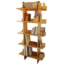 Bamboo Tall Large Bookcase Home Office Furniture