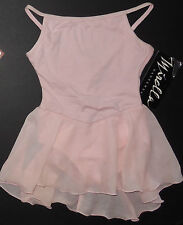NWT Dance Ballet Mirella Pink Camisole Leotard Dress Girls Medium M201C2