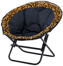 OZTRAIL MOON CHAIR (LEOPARD) 150KG LIMIT OVAL ROUND CAMP OUTDOOR SEAT CAMPING