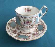 Rosina Fine Bone China English Tea Cup & Saucer Unique Handle
