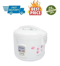 Tayama Cool Touch 10-Cup Rice Cooker & Warmer w Steam Basket, Kitchen Cook Bake