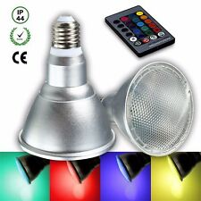 20W E27 Dimmable Par30 RGB LED Light Color Changing Bulb Remote Control 110V US