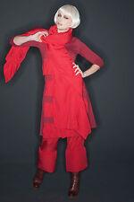 HEBBEDING superposé volants robe Dickens en rouge gr3 NEUF
