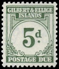"GILBERT & ELLICE J5 (SG D5) - Numeral of Value ""Postage Due"" (pf31946)"