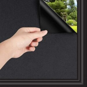 Self-adhesive Total Blackout Window Film UV Protection Privacy Tint Glass Cover