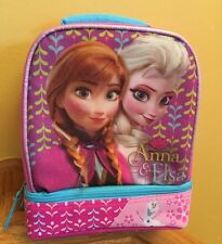 DISNEY FROZEN ELSA,ANNA,0laf INSULATED 2 Compartment LUNCH Tote, Pink, NWT
