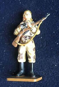 Soldier Lead Woman Soldier Reinforced Red USSR 1943