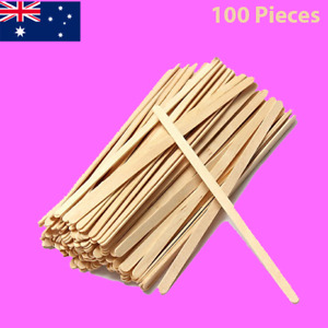 Waxing Wooden Stick Wood Thin Spatula | Disposable Slim Wax Applicator 100Pieces