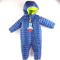 NEW Snozu Snowsuit Bunting Kids Infant 3-6 Months Blue Fleece Lined Coat NWT