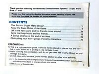 NES Super Mario Bros. 2 Nintendo Original Manual/Instruction Booklet!