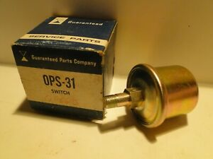 1964-1986 Mopar Chrysler Dodge Plymouth NOS Oil Pressure Switch Sensor 2495222