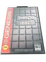 RoboCop vs. The Terminator (Sega Genesis, 1993) AUTHENTIC Game and Box - Tested