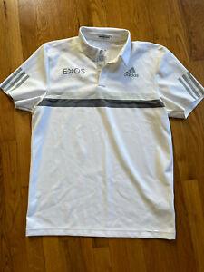 adidas Men's Barricade Engineered Polo T-Shirt Size Medium Golf Tennis Active