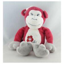 Doudou singe rouge Arthur et Lola BEBISOL - Singe Classique
