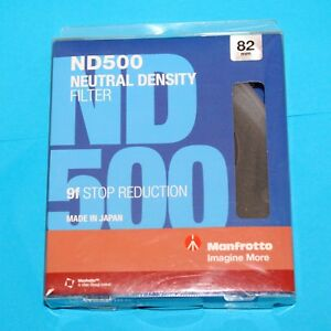 Manfrotto 82mm Circular ND500 Lens Filter with 9 Stop #MFND500-82