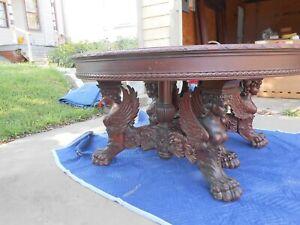 Antique RJ Horner Mahogany Dining Table Ca. 1890's