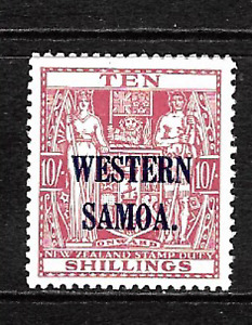 Western Samoa .. Overprinted New Zealand 10/- Fiscal Stamp Mint(MNH) .. 6979