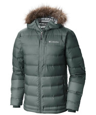 $220 Columbia Men Winter Hooded OMNI-HEAT 700 Power Fill Down Jacket L New