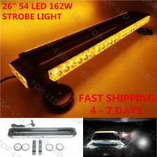"26""54LED 162W Emergency Hazard Warning Double Side Strobe Light Bar Amber Yellow"