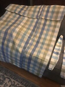 """Country Curtains blue/green plaid 2 sets 48"" x 63"""
