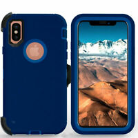 For iPhone XR /XS Max Phone Case With Holster Clip Kickstand Cover Shockproof