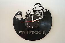 Gollum Design Vinile Record Orologio da parete [Black Matt Adesivo] arte casa ufficio