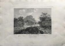 DUPRE KUPFERSTICH #1 - DORF BEI DRESDEN - JACOB PHILIPP HACKERT UM 1800