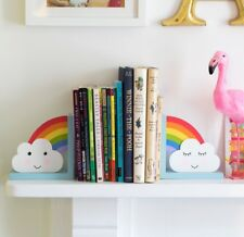 Rainbow And Cloud Children's Bookends by Sass and Belle