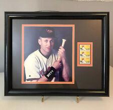 Cal Ripken jr Photgraph and US Postage Baseball Stamps Framed