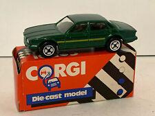Vintage Corgi Juniors 53449 Jaguar XJ40 Green with Yellow Gold Stripe