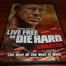 Die Hard 4: Live Free or Die Hard (DVD, 2007, UR Widescreen) Bruce Willis Used