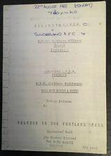 More details for ashington afcp v sunderland 22nd august 1988