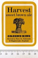 UK Beer Label - Greene King Brewery - Suffolk - Harvest Sweet Brown Ale (a)