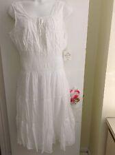 MLLE GRABRIEL Women's Plus Size spring/summer sundress.White. New.2X