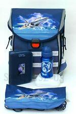 McNeill Ergo Light Basic Schulranzen-Set 5 teilig Flight Jungen Rucksack Blau